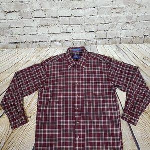 Pendleton 100% Wool Button Front Shirt